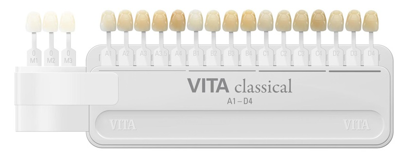 Vita classical shade guide - 16 teeth from A1 to D1
