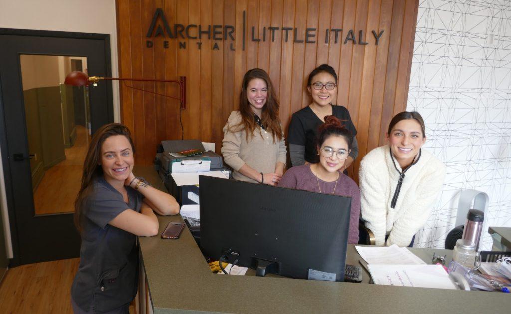dental staff at Archer Dental Little Italy