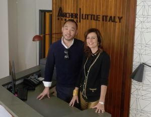 Dr Grant Yiu and Dr Natalie Archer at Archer Dental Little Italy, 564 College St