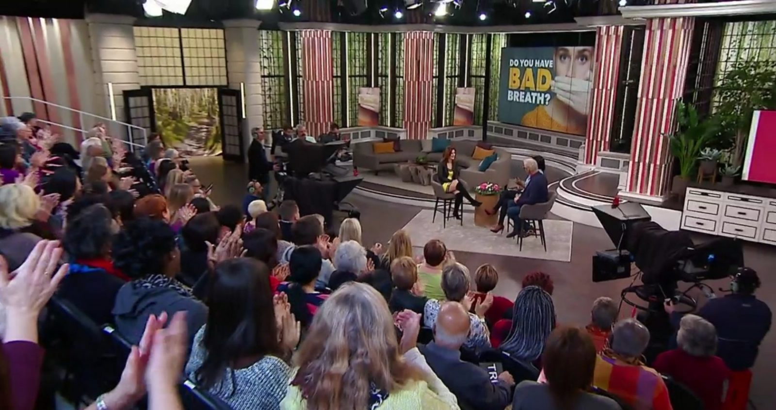 wide shot of CBC studio for The Goods, audience interaction on dental issues Halitosis