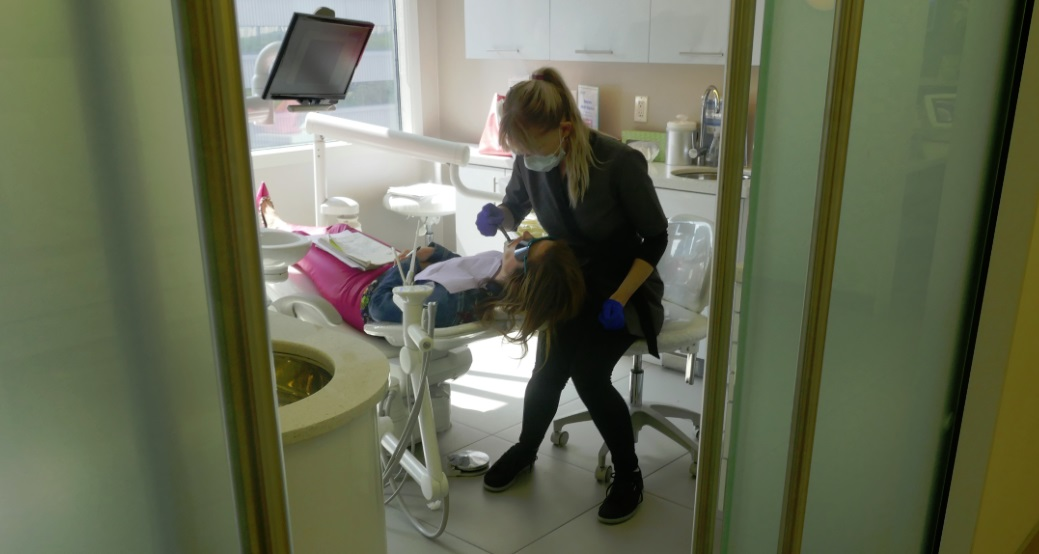 Dr Archer as dental patient at Archer Dental Rosedale - Glo teeth whitening test