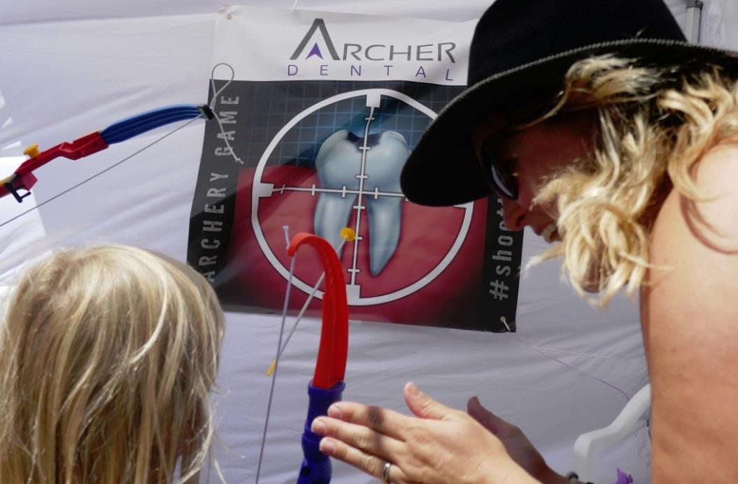 Acher Dental vinyl target