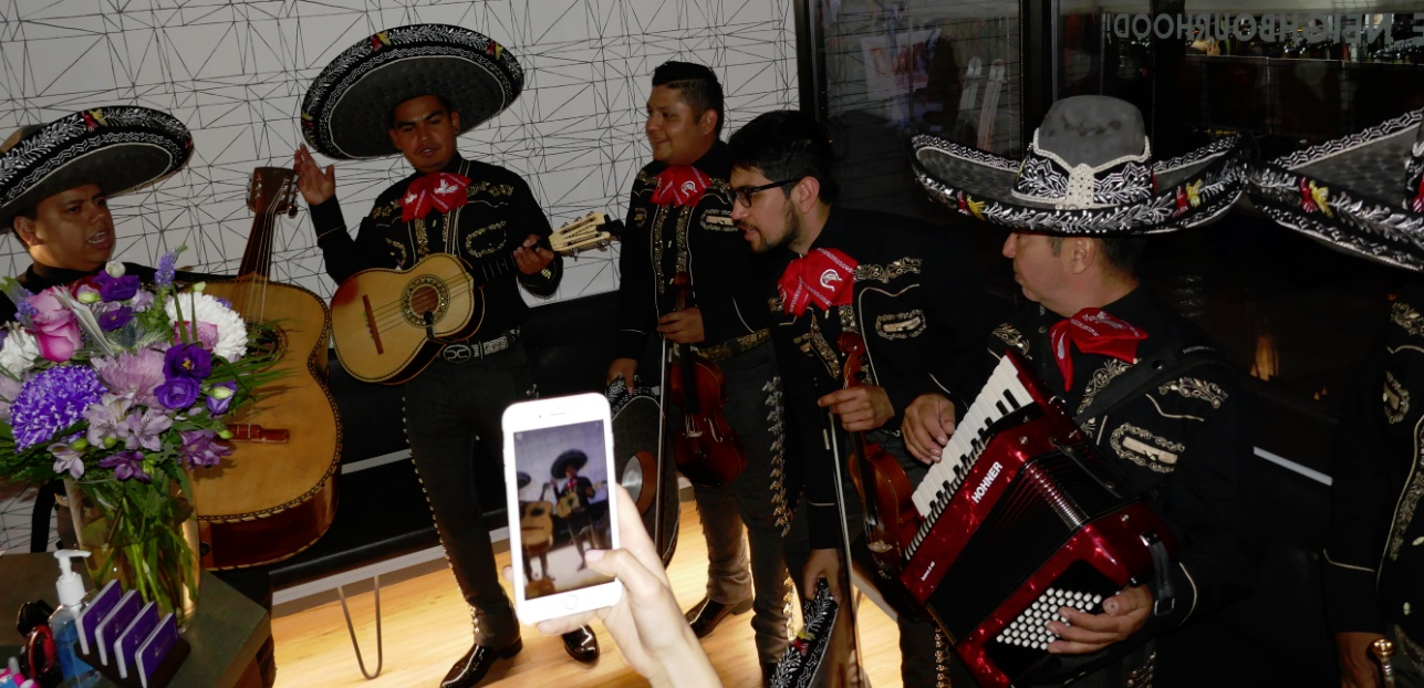 Mariachi band plays at Archer Dental Little Italy launch Party during Taste of Little Italy