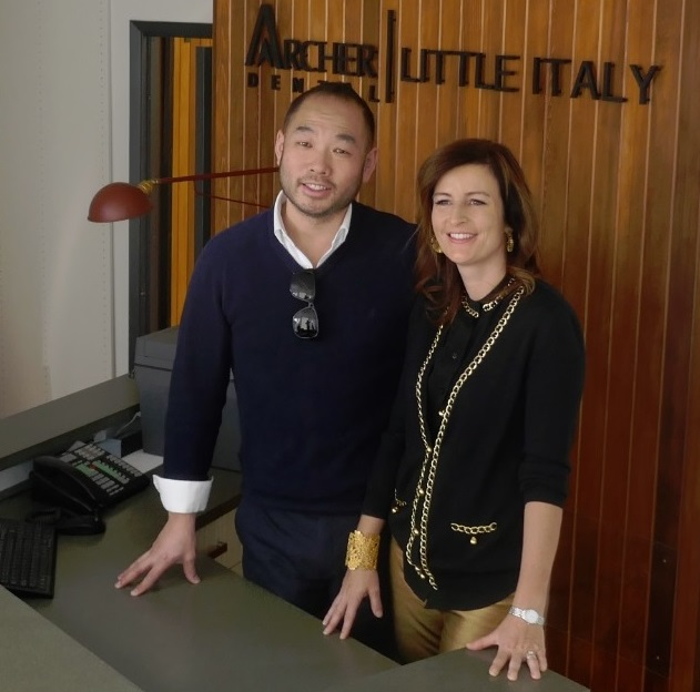 Dr Grant Yiu with Dr Natalie Archer at Archer Dental Little italy on College St in Toronto