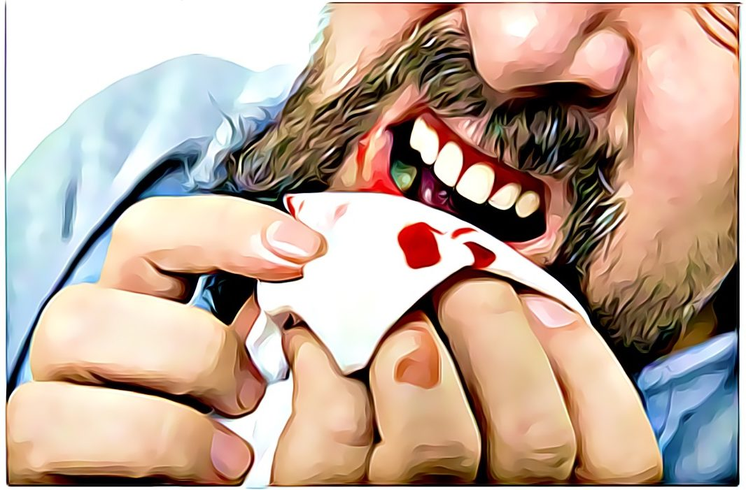 bleeding gums after eating