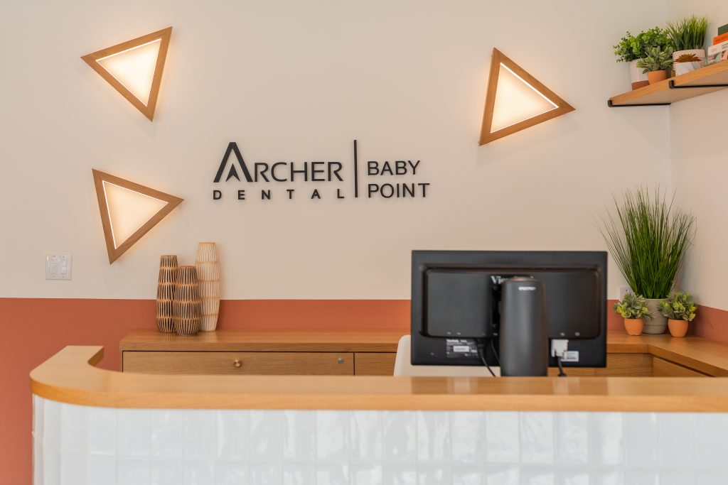 Archer Dental Baby Point reception area