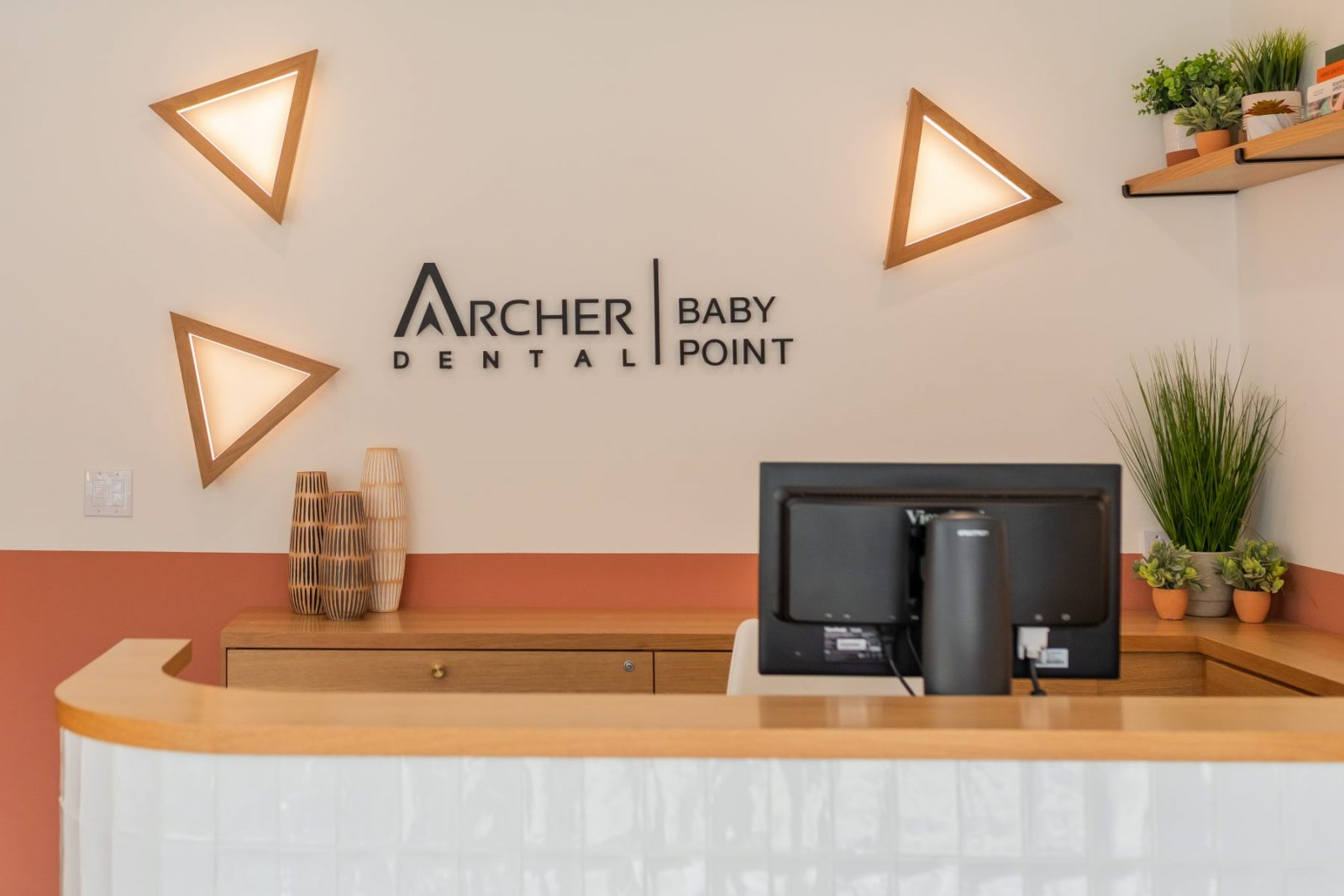 Archer Dental Baby Point reception area