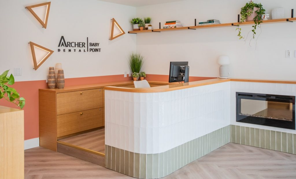 front reception area of Archer Dental Baby Point