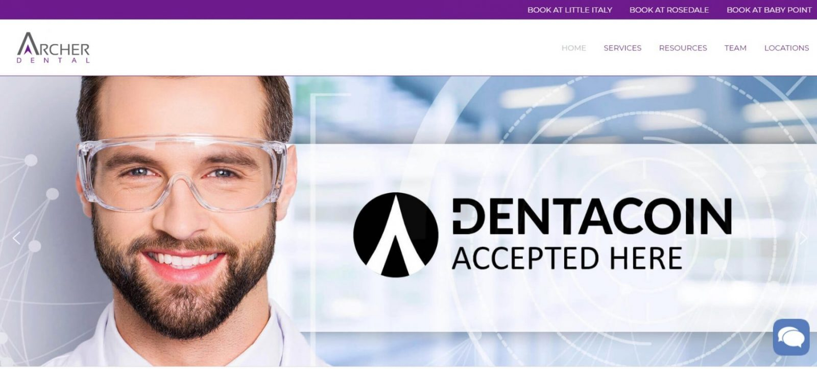 Archer Dental Dentacoin Canada first practice