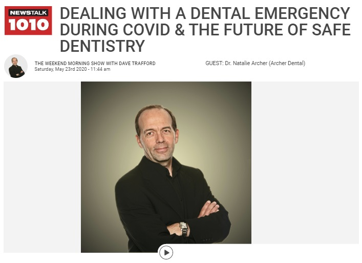 dealing with dental emergency during COVID, CFRB talk show Dave Trafford