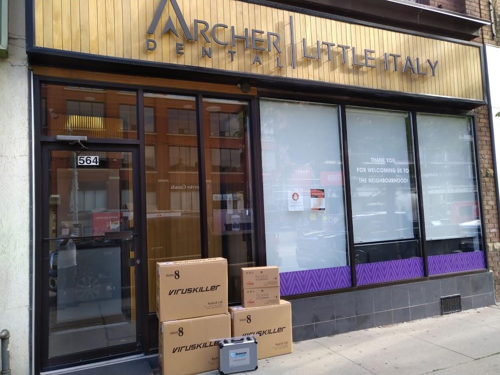 VirusKiller hardward delivered to Archer Dental Little Italy